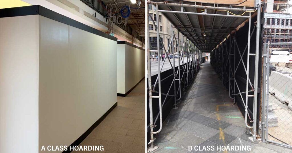 What is the difference between an A Class and B Class Hoardings