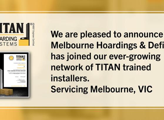 New Installer-Melbourne Hoardings and Defit