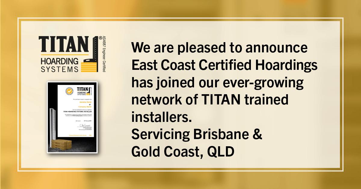 New Installer - East Coast Certified Hoardings