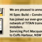 New Installer-Hi Spec Build and Construct